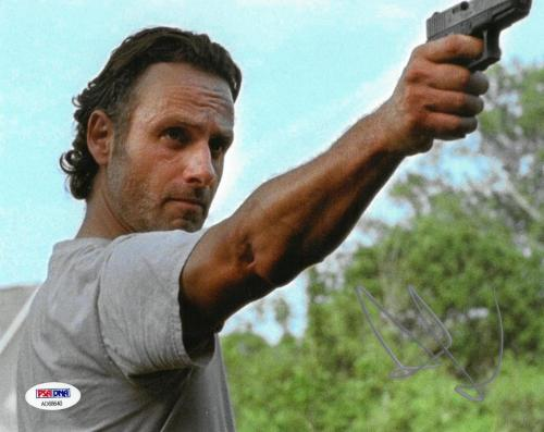 Andrew Lincoln Signed Walking Dead Autographed 8x10 Photo PSA/DNA #AD68640