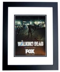 Andrew Lincoln, Steve Yeun, Lauren Cohan, and Norman Reedus Signed - Autographed The Walking Dead TWD 8x10 Photo BLACK CUSTOM FRAME