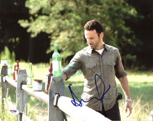 Andrew Lincoln The Walking Dead Signed 11X14 Photo PSA/DNA #Z89152