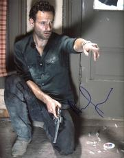 Andrew Lincoln The Walking Dead Signed 11X14 Photo PSA/DNA #Z89155