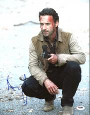 Andrew Lincoln The Walking Dead Signed 11X14 Photo PSA/DNA #Z89164