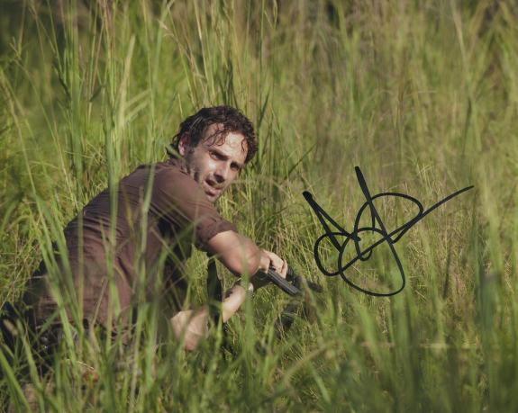 Andrew Lincoln The Walking Dead Signed Autographed Color Photo Wow!!