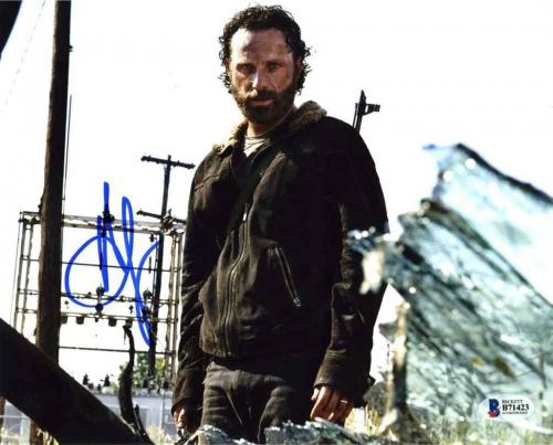 Andrew Lincoln Walking Dead Autographed Signed 8x10 Photo BAS COA AFTAL