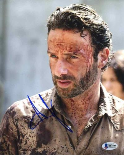Andrew Lincoln Walking Dead Autographed Signed 8x10 Photo Certified BAS COA