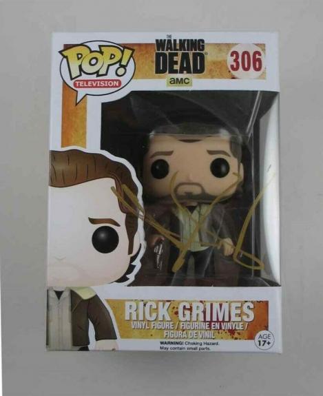 Andrew Lincoln Walking Dead Autographed Signed Funko Pop Doll JSA COA AFTAL