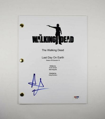 Andrew Lincoln Walking Dead Autographed Signed Script Authentic PSA/DNA COA