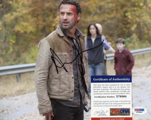 ANDREW LINCOLN WALKING DEAD RICK GRIMES SIGNED AUTOGRAPHED 8x10 PHOTO PSA X76864