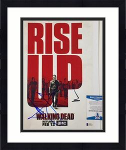 ANDREW LINCOLN~NORMAN REEDUS Signed THE WALKING DEAD 11x14 Photo BAS Beckett COA