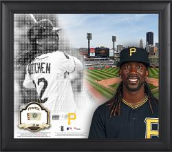 """Andrew McCutchen Pittsburgh Pirates Framed 15"""" x 17"""" Mosaic Collage with Game-Used Baseball-Limited Edition of 99"""