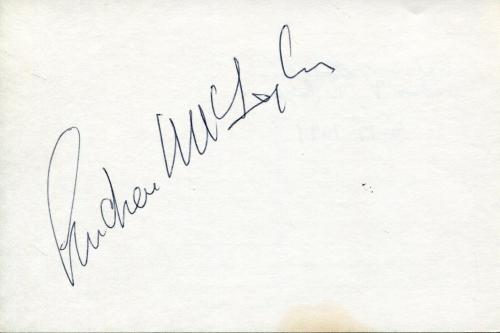 Andrew Mclaglen Movie Director Of John Wayne Films Signed Index Card Autograph