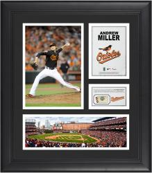Andrew Miller Baltimore Orioles Framed 15'' x 17'' Collage with Piece of Game-Used Ball