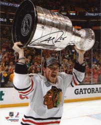 Andrew Shaw Chicago Blackhawks 2013 Stanley Cup Final Champions Autographed 8'' x 10'' Celebration Photograph - Mounted Memories