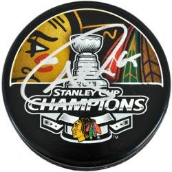 Andrew Shaw Chicago Blackhawks 2013 Stanley Cup Final Champions Autographed Puck