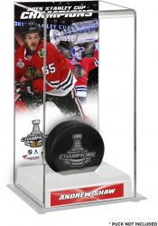 Andrew Shaw Chicago Blackhawks 2015 Stanley Cup Champions Logo Deluxe Puck Case
