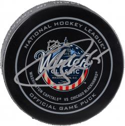 Andrew Shaw Chicago Blackhawks Autographed 2015 Winter Classic Official Game Puck