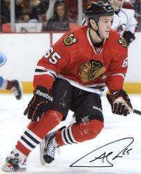 "Andrew Shaw Chicago Blackhawks Autographed 8"" x 10"" Vertical Red Uniform Photograph"