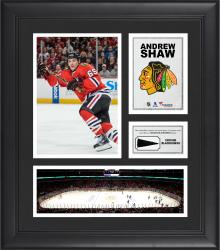 """Andrew Shaw Chicago Blackhawks Framed 15"""" x 17"""" Collage with Piece of Game-Used Puck"""