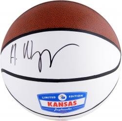 Andrew Wiggins Kansas Jayhawks Autographed Logo White Panel Basketball