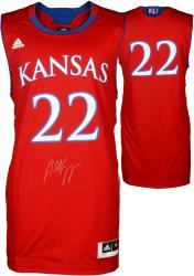Andrew Wiggins Kansas Jayhawks Autographed Red Replica Jersey