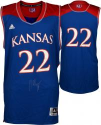 Andrew Wiggins Kansas Jayhawks Autographed Royal Blue Replica Jersey