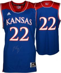 Andrew Wiggins Kansas Jayhawks Autographed Royal Blue Twill Jersey