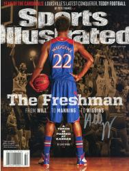 "Andrew Wiggins Kansas Jayhawks Autographed ""The Freshman Sports III"" Sports Illustrated"