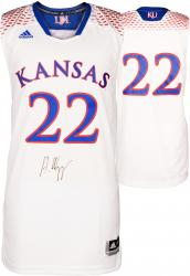 Andrew Wiggins Kansas Jayhawks Autographed White March Madness Jersey