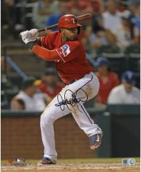 Elvis Andrus Texas Rangers Autographed 8'' x 10'' Hitting Leg Up Photograph - Mounted Memories