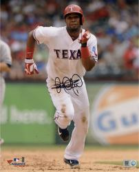 Elvis Andrus Texas Rangers Autographed 8'' x 10'' Running Face On Photograph - Mounted Memories