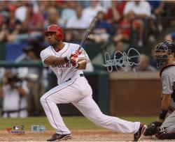 "Elvis Andrus Texas Rangers Autographed 8"" x 10"" Catcher Watch Photograph"