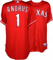 Elvis Andrus Texas Rangers 2014 Opening Day Game-Used Jersey