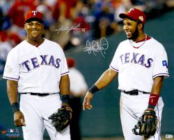 "Elvis Andrus & Adrian Beltre Texas Rangers Dual Autographed 16"" x 20"" Photograph"