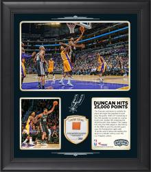 "Tim Duncan San Antonio Spurs Framed 25,000 Points 15"" x 17"" Collage with Team Used Ball-Limited Edition of 250"