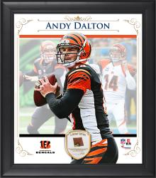 "Andy Dalton Cincinnati Bengals Framed 15"" x 17"" Composite Collage with Piece of Game-Used Football"