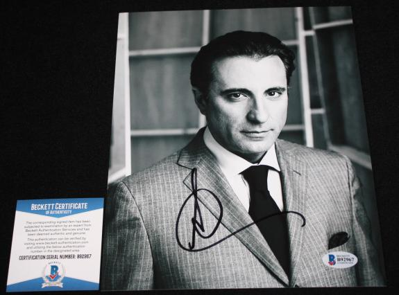 Andy Garcia signed 8 x 10, Godfather, Oceans Eleven, Untouchables, Beckett BAS4