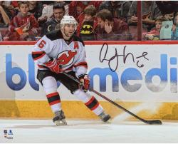 "Andy Greene New Jersey Devils Autographed White Jersey Stopping 8"" x 10"" Photograph"