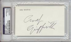 Andy Griffith Signed 3x5 Index Card (PSA/DNA)