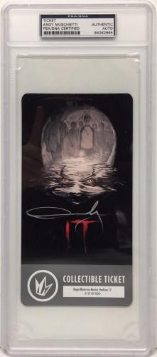 Andy Muschietti Signed Stephen King's 'IT' Collectible Ticket PSA Slabbed 062665