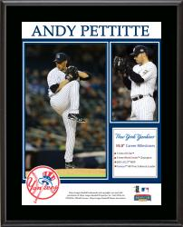 "Andy Pettitte New York Yankees Retirement Sublimated 10.5"" x 13"" Plaque"