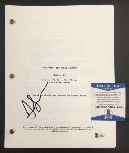 ANDY SERKIS autograph signed STAR WARS: THE FORCE AWAKENS Movie Script ~ BAS COA