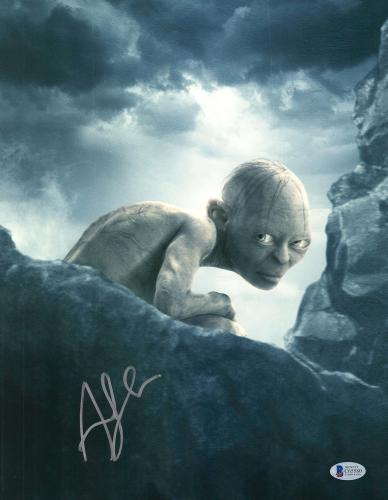 """Andy Serkis Autographed 11"""" x 14"""" The Lord of the Rings Photograph 1 - BAS COA"""