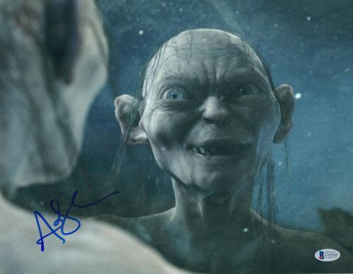 """Andy Serkis Autographed 11"""" x 14"""" The Lord of the Rings Photograph 3 - BAS COA"""