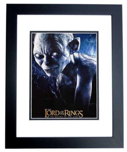 Andy Serkis Signed - Autographed LORD OF THE RINGS 8x10 inch Photo BLACK CUSTOM FRAME - Guaranteed to pass PSA or JSA - Precious