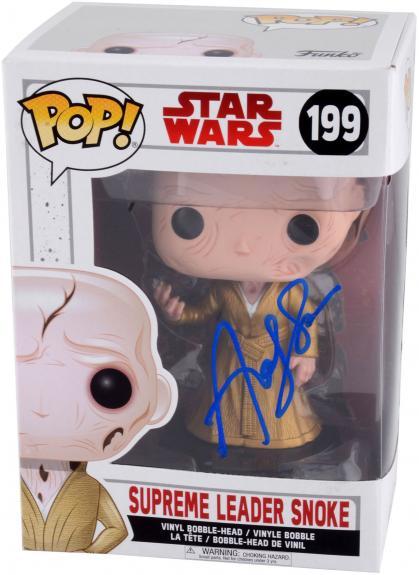 Andy Serkis Autographed Supreme Leader Snoke Star Wars Funko Pop - BAS COA