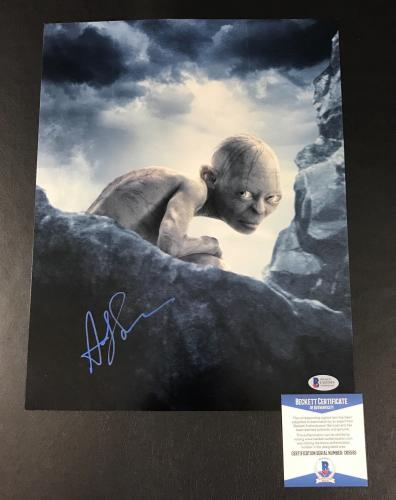 Andy Serkis Lord Of The Rings Signed 11x14 Photo Authentic Autograph Beckett Coa