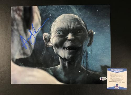 Andy Serkis Signed Auto Lord Of The Rings 11x14 Photo Bas Beckett Coa 12
