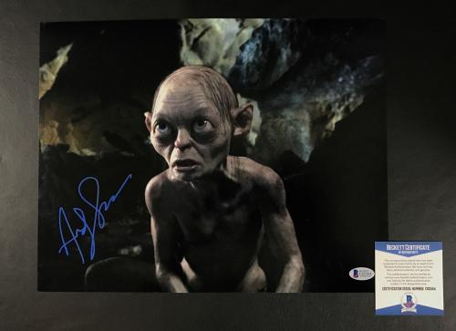 Andy Serkis Signed Auto Lord Of The Rings 11x14 Photo Bas Beckett Coa 15