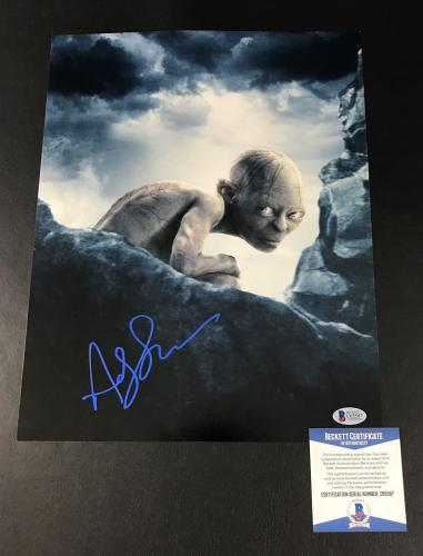 Andy Serkis Signed Auto Lord Of The Rings 11x14 Photo Bas Beckett Coa 16