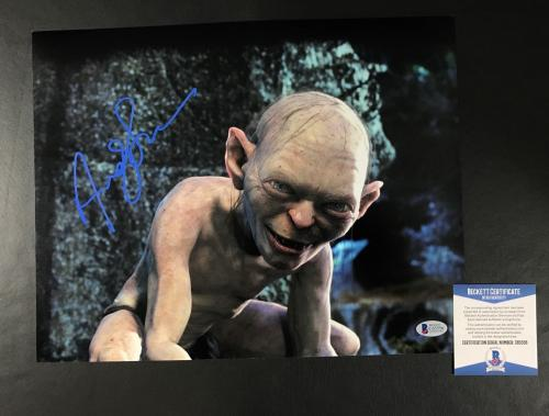 Andy Serkis Signed Auto Lord Of The Rings 11x14 Photo Bas Beckett Coa 5