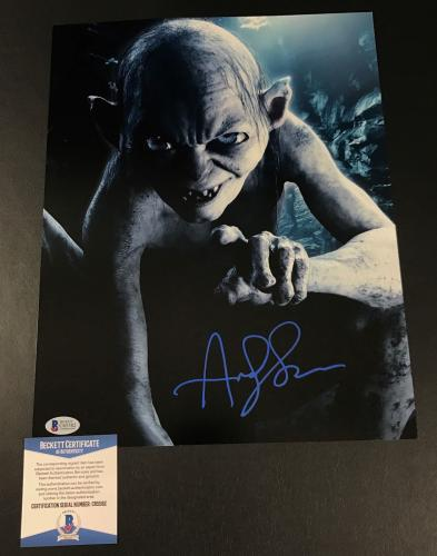 Andy Serkis Signed Auto Lord Of The Rings 11x14 Photo Bas Beckett Coa 6